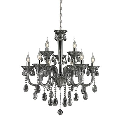 Formont 9-Light Crystal Chandelier Finish: Smoke Plated