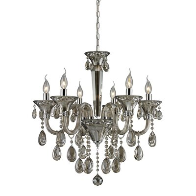 Kober 6-Light Crystal Chandelier Finish: Teak Plated