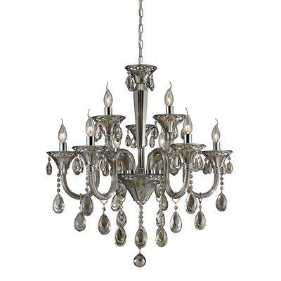 Kober 9-Light Crystal Chandelier Finish: Teak Plated
