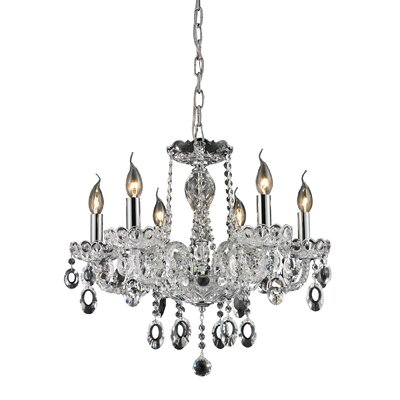 Koch 6-Light Candle-Style Chandelier Finish: Clear
