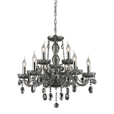 Koch 9-Light Crystal Chandelier Finish: Smoke Plated