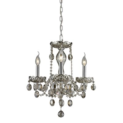 Koch 3-Light Crystal Chandelier Finish: Teak Plated