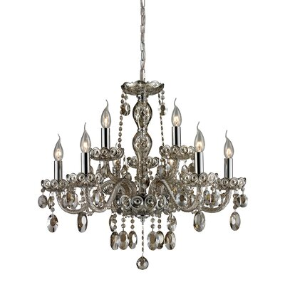 Koch 9-Light Crystal Chandelier Finish: Teak Plated