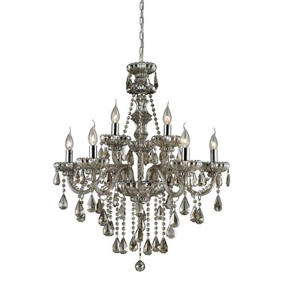 Dowson 9-Light Crystal Chandelier Glass Finish: Teak Plated