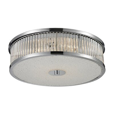 Amersham Flush Mount Size: 6 H x 16 W x 16 D