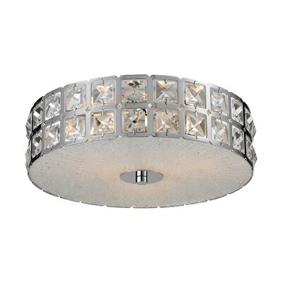 Wickham Flush Mount Size: 5 H x 12 W x 12 D