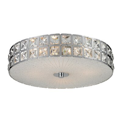 Kissner Flush Mount Size: 5 H x 16 W x 16 D