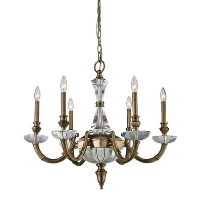 Longino 6-Light Crystal Chandelier