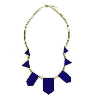 JordanandTaylor Gold Bib Necklace - Color: Blue at Sears.com