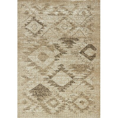 Meaghan Light Beige Arizona Rug Rug Size: 53 x 77