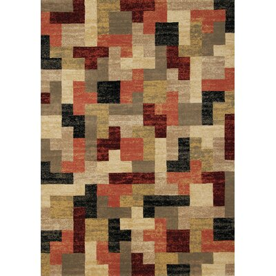 Moroccan Tetris Definition Area Rug Rug Size: 53 x 77