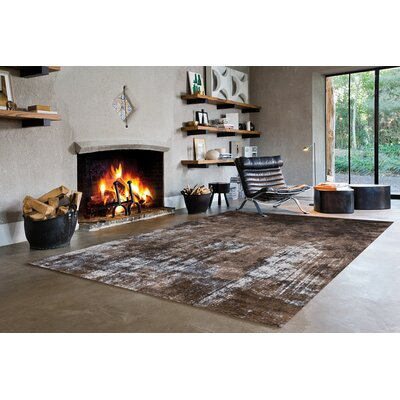 Willow Acid Wash Brown Area Rug Rug Size: 57 x 710