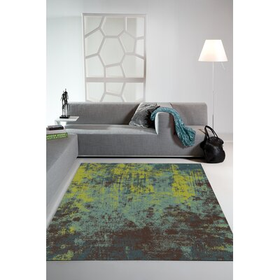 Ballantyne Acid Wash Green Area Rug Rug Size: 57 x 710