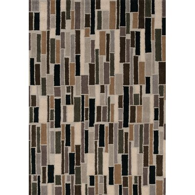 Bundella Gray Cobblestone II Area Rug Rug Size: 53 x 77