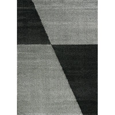 Barcia Grey/Black Geometric Area Rug Rug Size: 710 x 1010