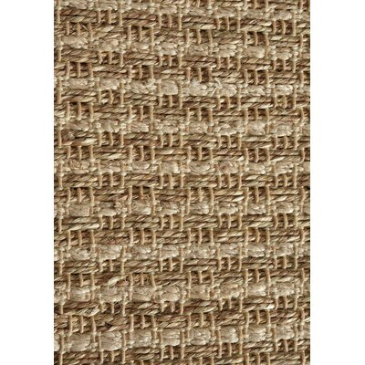 Ayla Hemp Weave Beige Area Rug Rug Size: 53 x 77