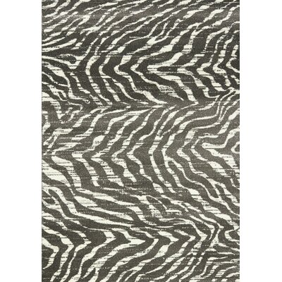 Renard Gray/White Sophisticated Prints Area Rug Rug Size: 53 x 77