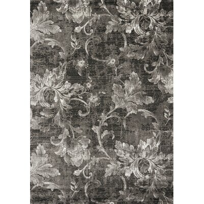 Adrianne Grey/White Frozen Vines Area Rug Rug Size: 710 x 106
