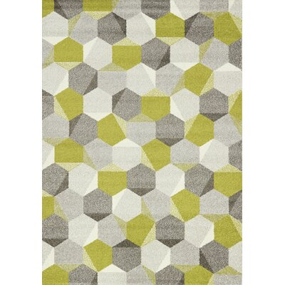 Jeanie Gray/Green Area Rug Rug Size: 710 x 1010