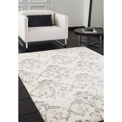Polaris White Subtle Sophistication Area Rug Rug Size: 53 x 77