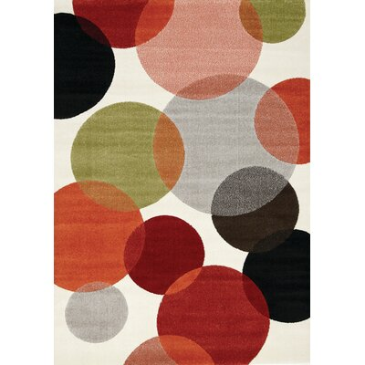 Rundall Bubbles Area Rug Rug Size: 53 x 77