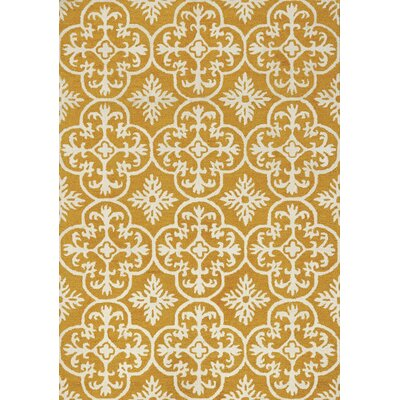 Maldives Yellow Area Rug Rug Size: 53 x 77