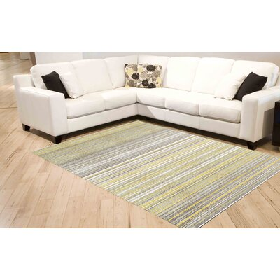 Lyme Grey/Yellow Cords Area Rug Rug Size: 710 x 1010