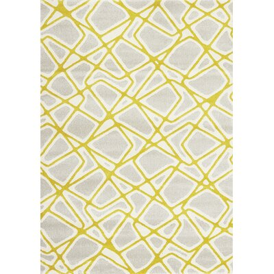 Greve Lightning Grey/Yellow Area Rug