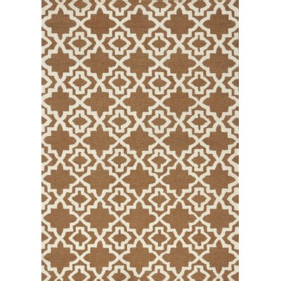 Maldives Brown Area Rug Rug Size: 53 x 77