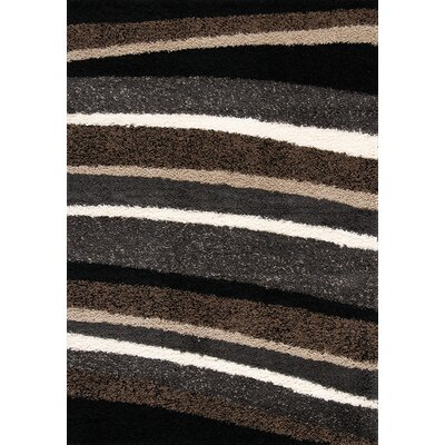 Ceto Brown/Tan Area Rug Rug Size: 53 x 77