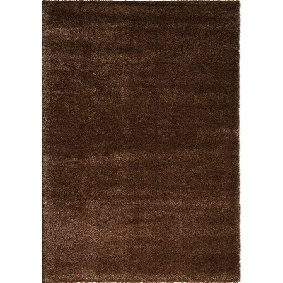 Stanley Glitz Low Pile Dark Brown Area Rug Rug Size: 53 x 77
