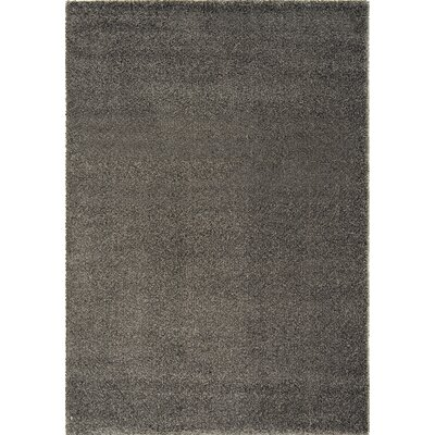 Stanley Glitz Low Pile Dark Grey Area Rug Rug Size: 710 x 1010