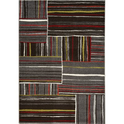Rundall Red/Gray Area Rug Rug Size: 710 x 1010