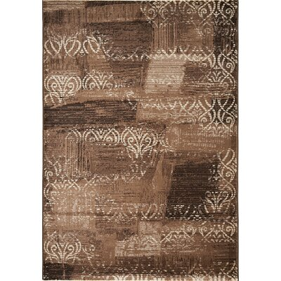 Gallimore Brown/Silver Area Rug Rug Size: 53 x 77