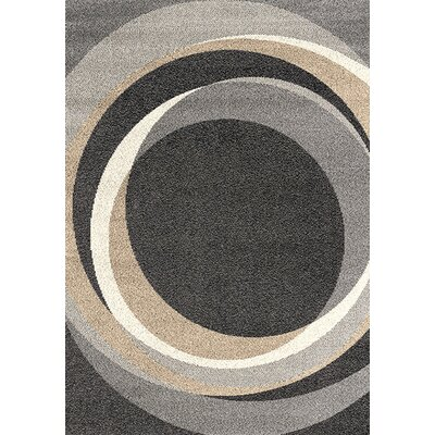 Rundey Gray Winter Circles Area Rug Rug Size: 53 x 77