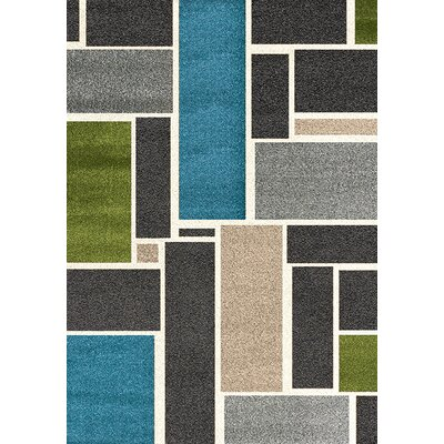 Rundey Gray Geometric Area Rug Rug Size: 710 x 1010