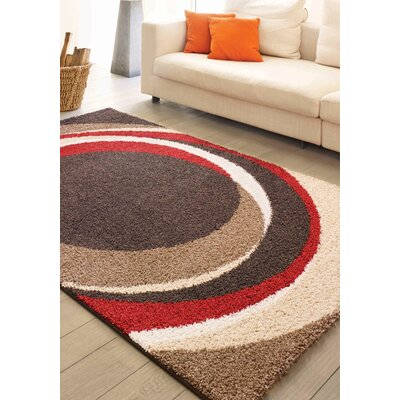 Rundey Taupe Autumn Circles Area Rug Rug Size: 710 x 1010