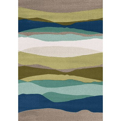 Bundella Green Morning Beach Area Rug Rug Size: 710 x 1010