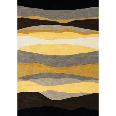 Bundella Yellow Evening Beach Area Rug Rug Size: 710 x 1010