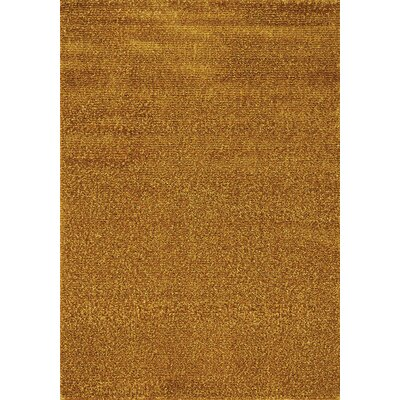 Stanley Gold Solid Area Rug Rug Size: 710 x 1010