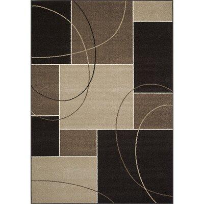 Monterrey Charcoal/Beige Geometric Area Rug Rug Size: 53 x 77