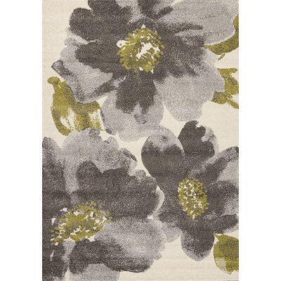 Lyonsdale Cream & Gray Area Rug Rug Size: 710 x 1010