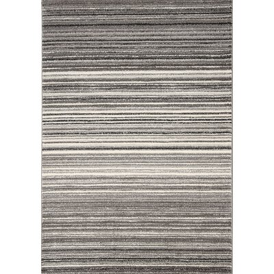 Lyme Grey Cords Area Rug Rug Size: 53 x 77
