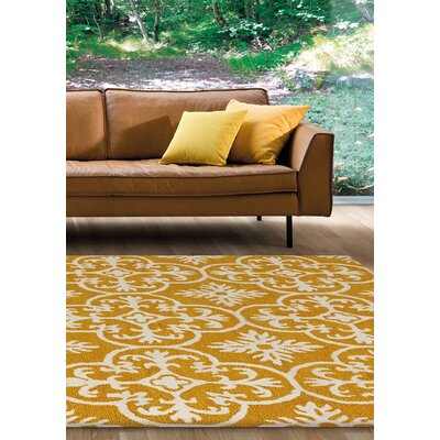 Eilene Yellow Area Rug Rug Size: 53 x 77