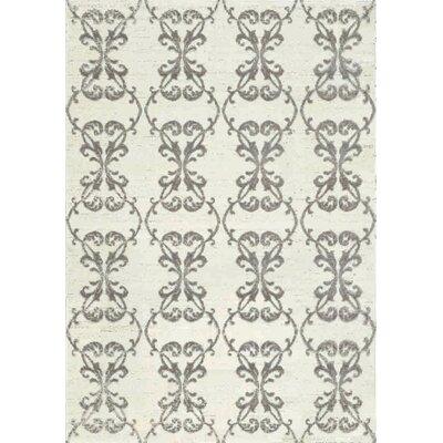 Lyme Ironwork Cream & Gray Area Rug Rug Size: 710 x 1010