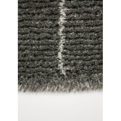Crossman Brick Charcoal Area Rug Rug Size: 710 x 1010