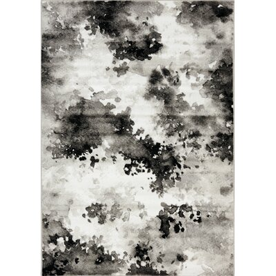 Arden Airbrush White/Gray Area Rug Rug Size: 710 x 106