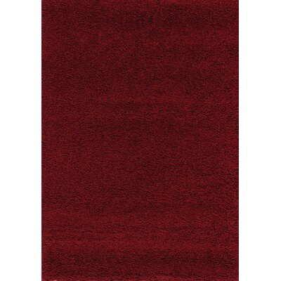 Annmarie Solid Red Shag Area Rug Rug Size: 311 x 57