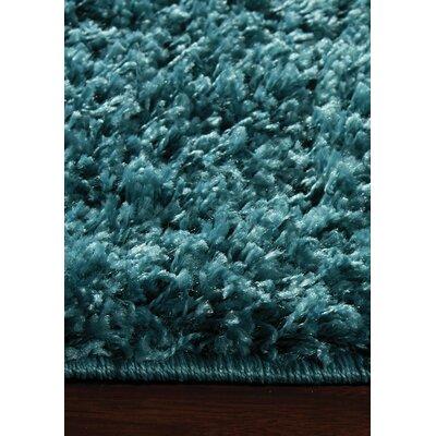 Burchett Blue Shag Area Rug Rug Size: 53 x 77