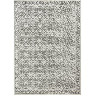 Montgomery Circles Gray Area Rug Rug Size: 710 x 1010